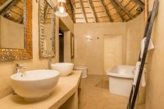 Bathroom with his and her basins